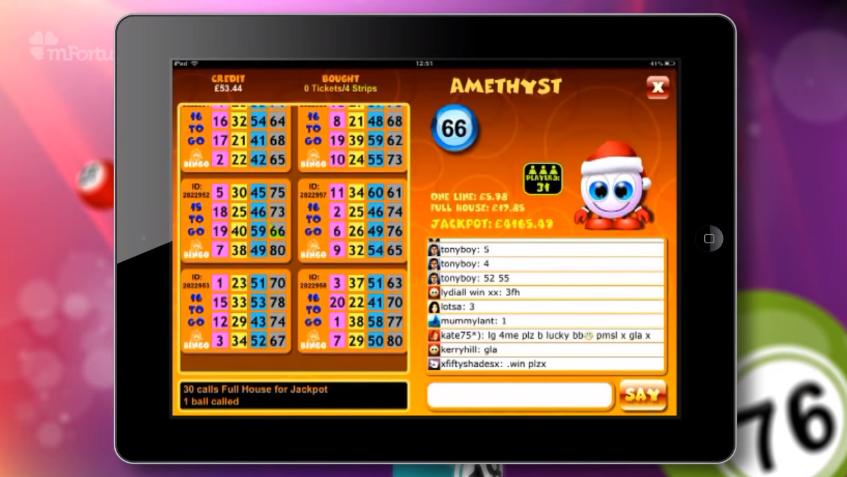 Mobile Bingo App